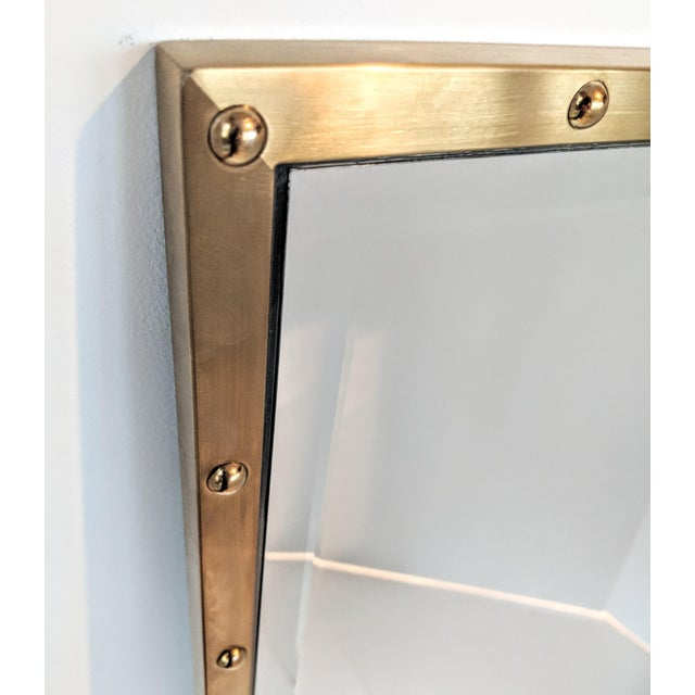 Nautical Brass Frame Mirror - Image 2 of 9