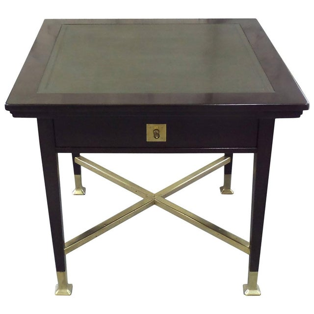 Gold Secessionist Game Table with Synchronized Mechanical Trays For Sale - Image 8 of 8