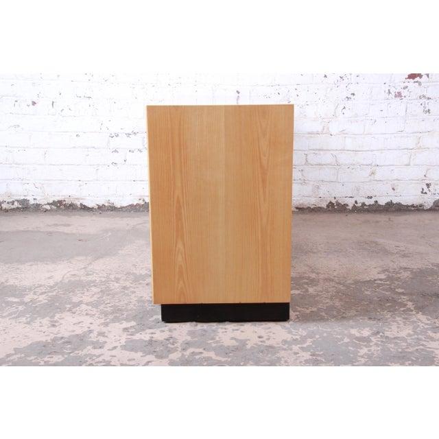 Milo Baughman Style Burl Wood Long Dresser or Credenza by Henredon For Sale - Image 10 of 13