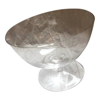 Handblown 'Muslin' Glass Crystal Bowl For Sale