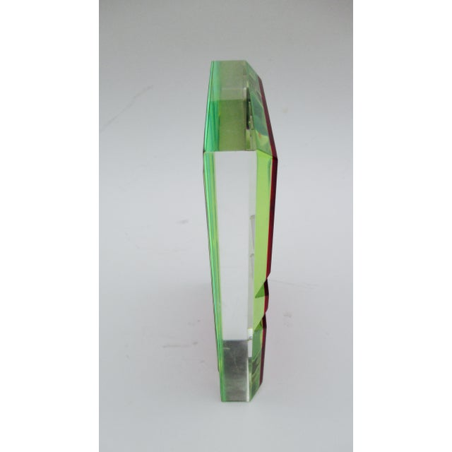 Vasa Velizar Mihich Style Lucite Paperweight Sculpture Block For Sale - Image 10 of 13