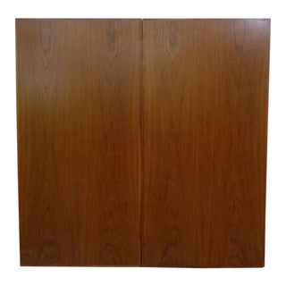 Large Mad Men Style Mid Century Modern Walnut Conference Presentation Wall Cabinet For Sale