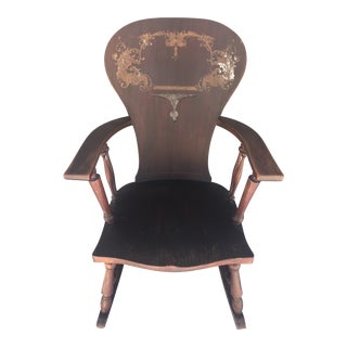 1900s Vintage Victorian Rocking Chair For Sale
