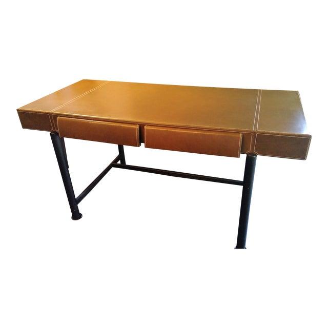 Modern Promemoria Leather Writing Desk For Sale