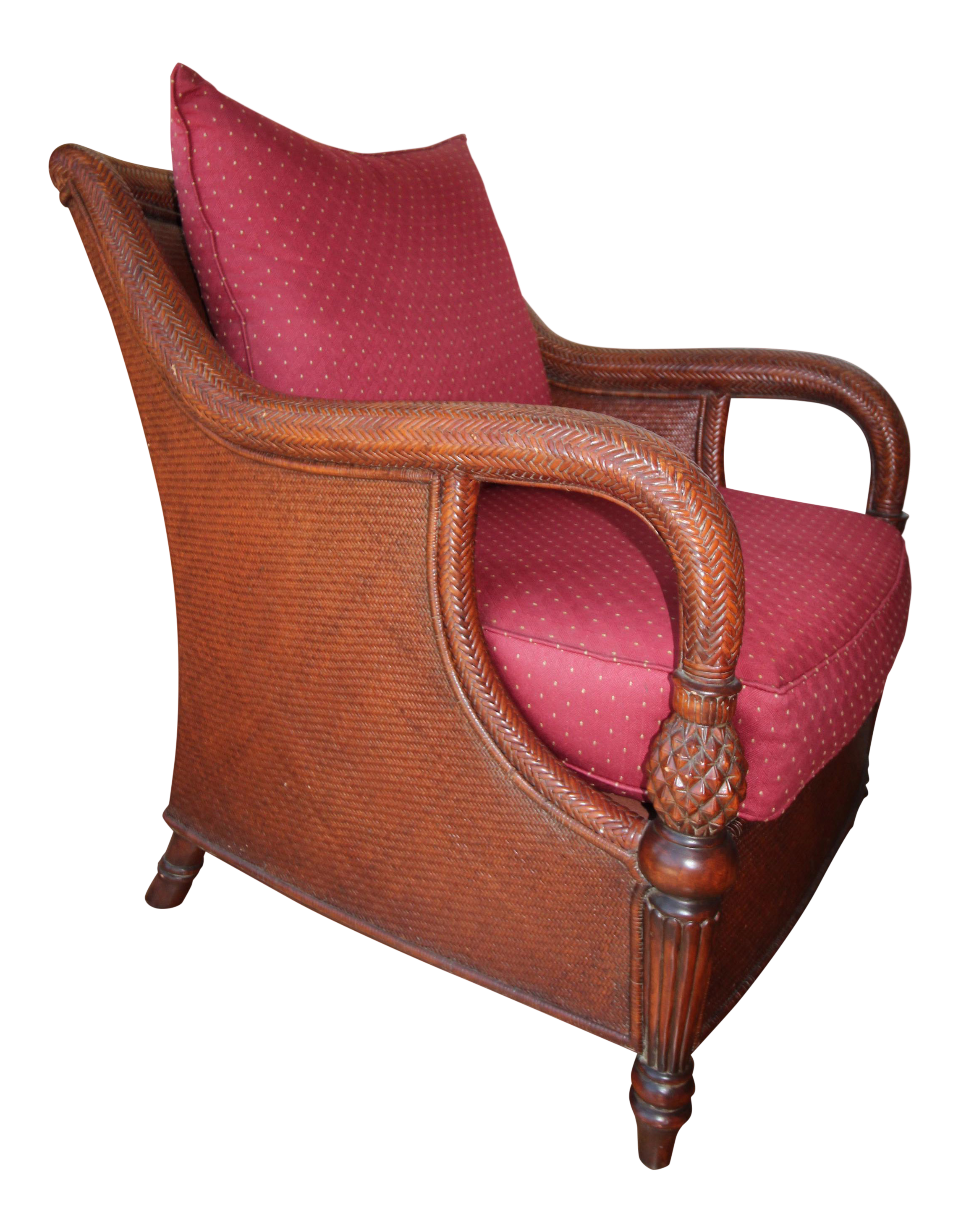 Charmant Palm Grove Wooden Cane Armchair By Ethan Allen