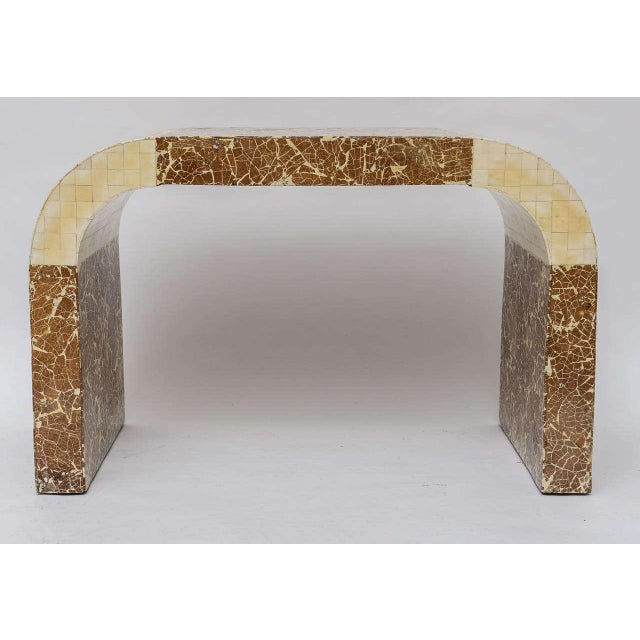 Great stool crafted from coconut shell and bone.
