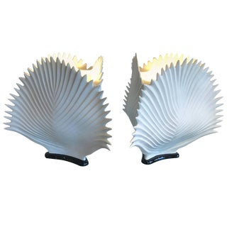 Italian Bisque Porcelain Lamps on Black Bases - a Pair For Sale