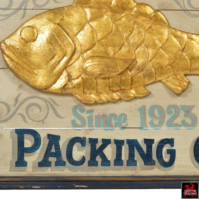 East Bay Fish Packing Company Trade Sign For Sale - Image 9 of 11