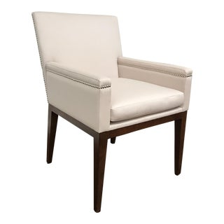 RJones Sheeler Ivory Wool Dining Arm Chair