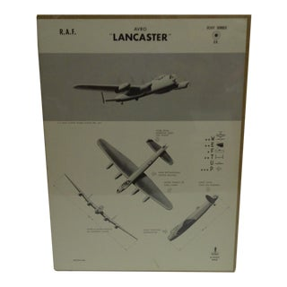 """Vintage WWII Aircraft """"Lancaster"""" Recognition Poster"""