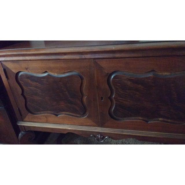 Antique Serpentine Sideboard Buffet - Image 6 of 10