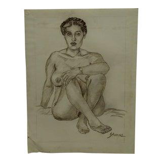 "Original Drawing Sketch ""Wrist-Watch"" by Tom Sturges Jr., 1953"