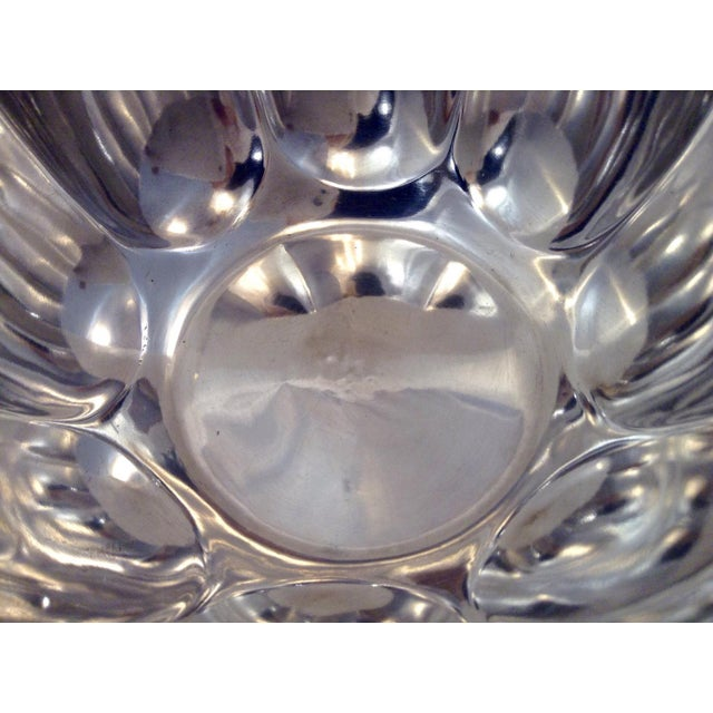 1900s 1900s Mid-Century Modern Elkington Silver Fluted Bowl For Sale - Image 5 of 6