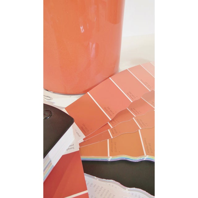 Coral Glass Cylinder Lamp & Shade - Image 5 of 5