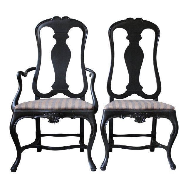 Queen Anne Style Dining Chairs - Set of 10 - Image 1 of 10
