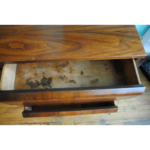 Mid Century Modern Walnut 9 Drawer Dresser - Image 7 of 10