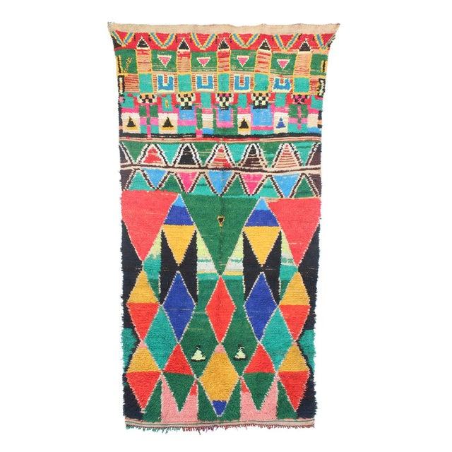 "Vintage Azilal Moroccan Berber Rug - 3'5"" X 6'11"" - Image 1 of 2"