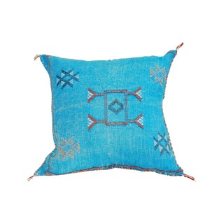 Moroccan Blue Sabra Throw Pillows For Sale