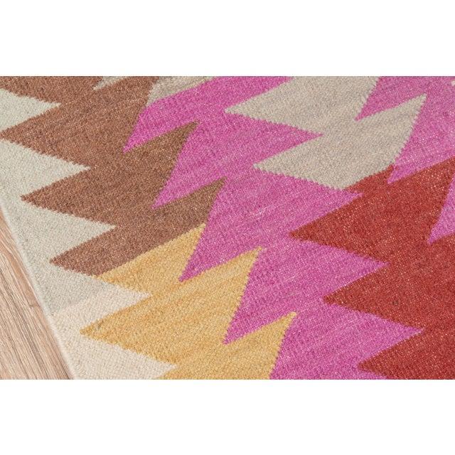 """Momeni Caravan Hand Woven Multi Wool Runner - 2'3"""" X 8' For Sale - Image 4 of 7"""