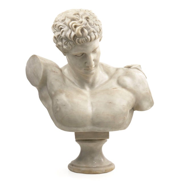 Classical Marble Bust of Hermes Holding Dionysus After the Antique by Praxiteles For Sale - Image 13 of 13