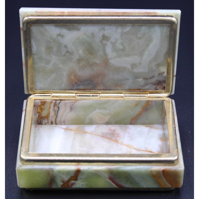 Vintage Light Green Marble Lidded Treasure Box For Sale - Image 11 of 13