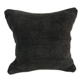 Turkish Black Color Anatolian Kilim Pillow For Sale