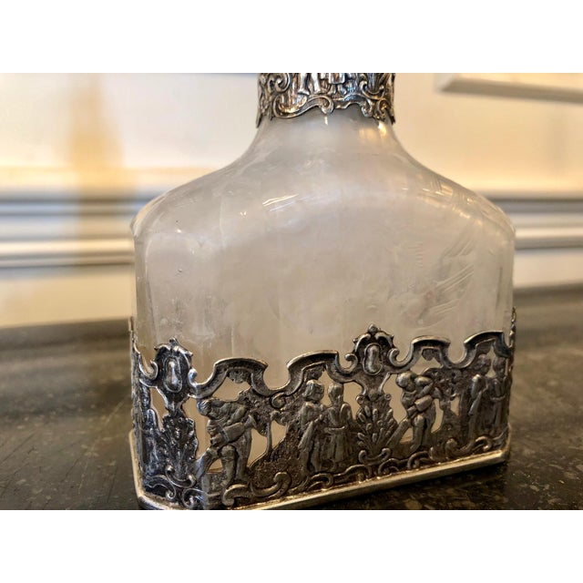 18th Century German Silver Encased Etched Glass Decanters Augsburg 1781 - a Pair For Sale - Image 9 of 13