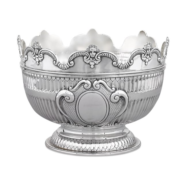 1950s Silver Cherub Bowl By The London Assay Office For Sale - Image 5 of 5