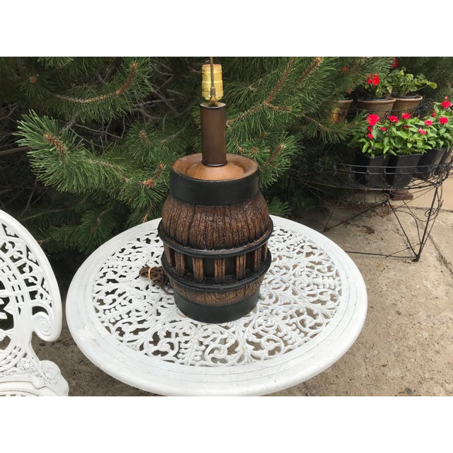 American 19th Century Wooden Wagon Wheel Lamp For Sale - Image 3 of 5