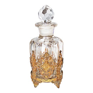 Antique Glass Perfume Bottle For Sale