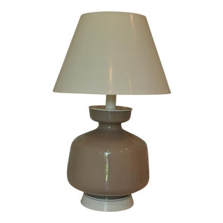 Vintage Hollywood Regency Glass Table Lamp For Sale