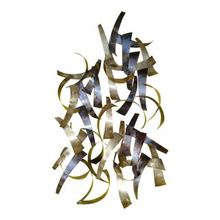 Abstract Curtis Jere Metal Wall Sculpture