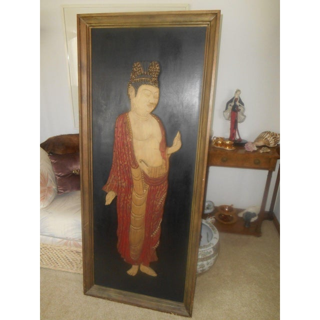 Vintage Oriental 3D Handcarved Wood Wall Sculpture - Image 3 of 6