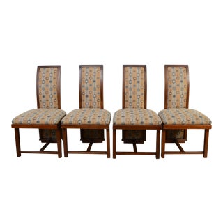Frank Lloyd Wright Dining Chairs Mahogany Henredon Taliesin - Set of 4 For Sale
