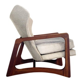 Adrian Pearsall Model 2466-C Lounge Chair Restored in Brazilian Cowhide For Sale