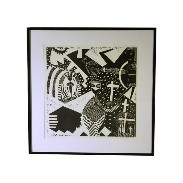"""""""Sanctuary"""" Artist Proof Linocut Print by Susie Ketchum For Sale - Image 9 of 9"""