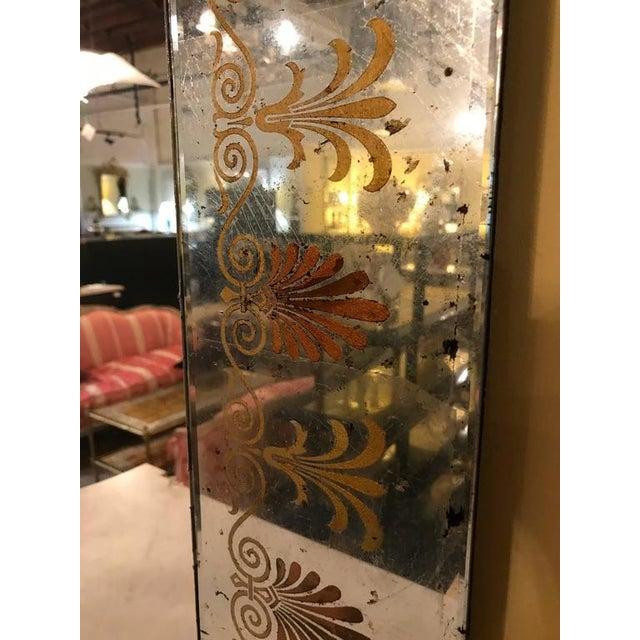 Hollywood Regency Églomiséd Framed Mirrors - A Pair For Sale - Image 4 of 6