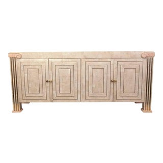 Maitland-Smith Tessellated Marble Console For Sale