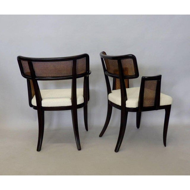 Dunbar Furniture Four Edward Wormley for Dunbar Dining Chairs For Sale - Image 4 of 7