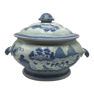 Large Chinese Porcelain Lidded Tureen For Sale