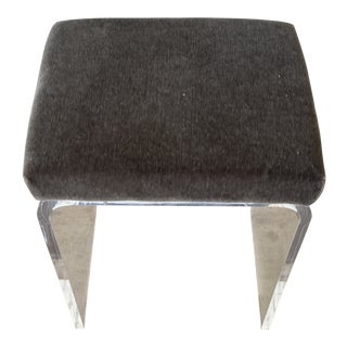 Gray Custom Lucite Bench For Sale