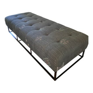 Cisco Colin Bench with Moroccan Fabric For Sale