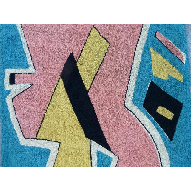 Bert Miripolsky translates his bold approach to abstraction to the medium of handmade looped tapestry using a cheerful...