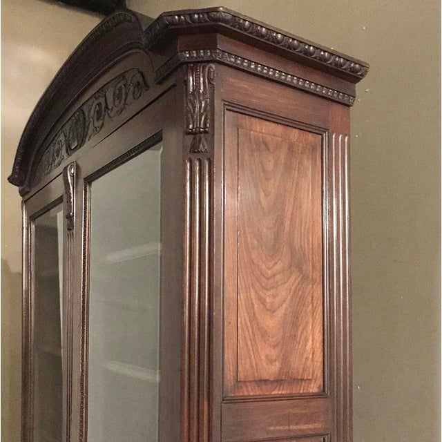 Late 19th Century 19th Century French Louis XVI Mahogany Bookcase ~ Vitrine For Sale - Image 5 of 12