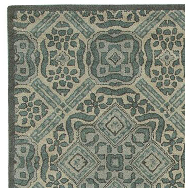 Vintage Ivory Traditional Pattern Rug - 5' x 8' - Image 2 of 5