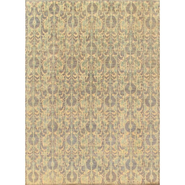 Pasargad's Ikat Wool Rug - 9′ × 12′ For Sale