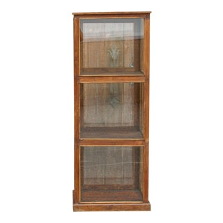 19th Century British Colonial Glass Cabinet For Sale