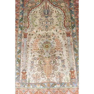 Turkish Hereke Hand-Knotted Silk Rug Preview