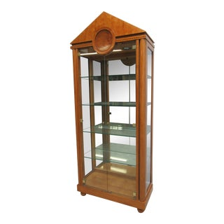Biedermeier Hickory White Genesis China Cabinet For Sale