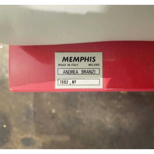 "Memphis Milano Limited Edition ""Century"" Sofa by Andrea Branzi Circa 1982 For Sale - Image 12 of 13"